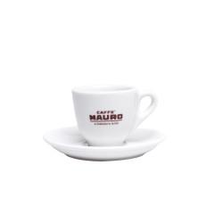 Caffe Mauro Чаша за еспресо с чинийка 6бр. Порцеланова чаша за кафе